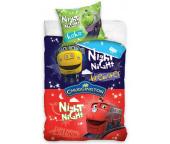 Dětské povlečení Veselé vláčky Noční život