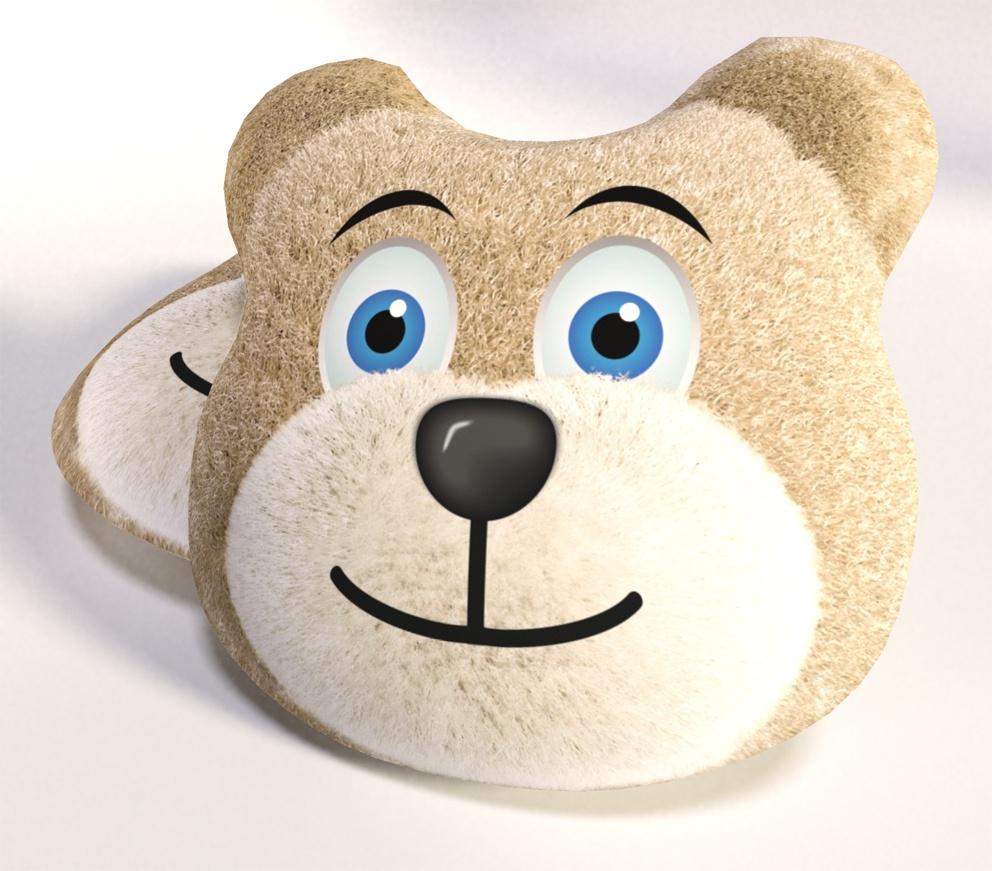 3D Polštářek Medvídek Béžový