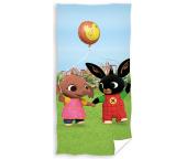Dětská osuška Zajíček Bing a Sula s pouťovým balónkem
