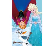 Dětský ručník Ledové Království Anna, Elsa a Olaf 40x60 cm