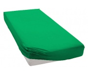 Jersey prostěradlo zelené