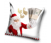 Vánoční polštářek Santa naděluje