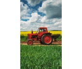 Froté ručníček Červený Traktor