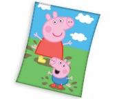 Dětská deka Prasátko Peppa a George