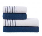 Sada ručníků a osušek Davos Modrá Námořnická