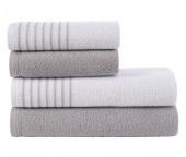 Sada ručníků a osušek Davos Šedá