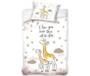 Povlečení do postýlky Žirafa a žirafátko
