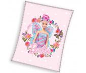 Dětská deka Barbie Motýlí Víla 110x140 cm