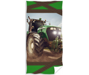 Dětská osuška Traktor zelený