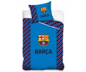Fotbalové povlečení FC Barcelona Small Cubes