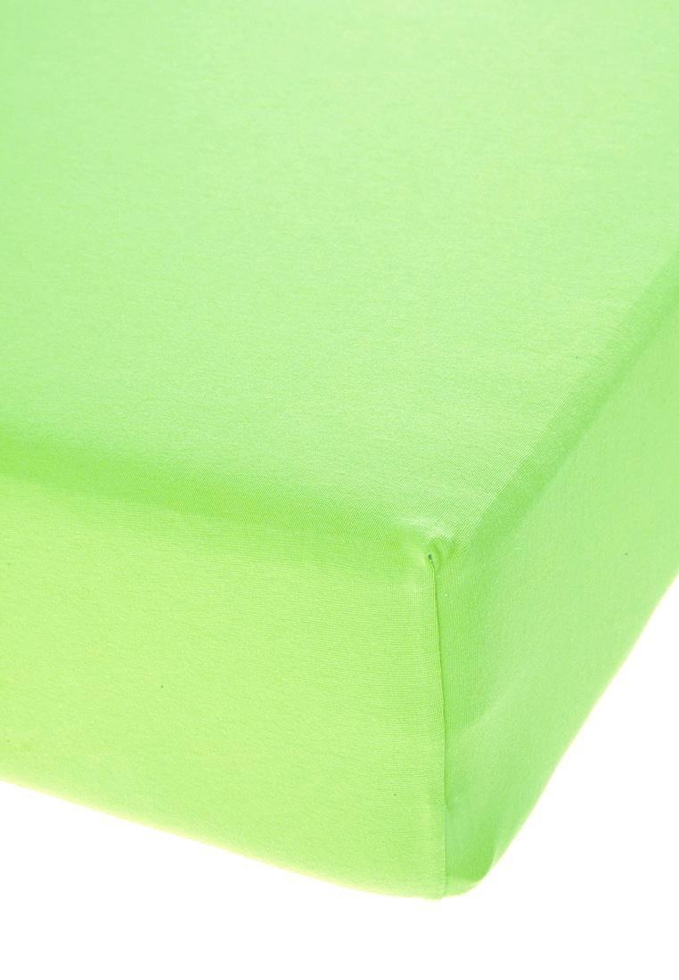 Jersey prostěradlo s elastanem světle zelené