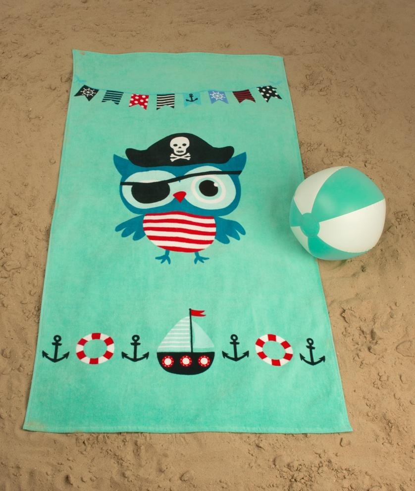 Dětská plážová osuška Sova Pirát Jack