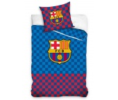 Fotbalové povlečení FC Barcelona Chessboard