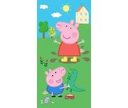 Dětská osuška Prasátko Peppa a George s dinosaurem