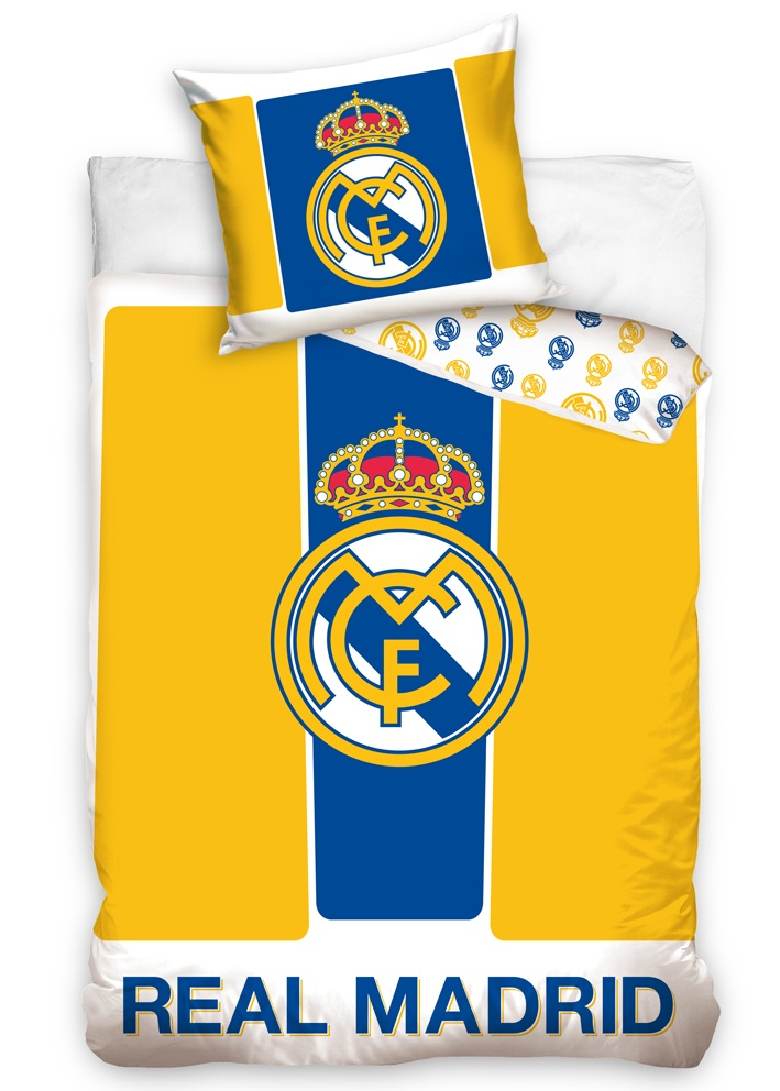 Fotbalové povlečení Real Madrid Yellow Stripes