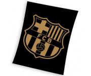 Fotbalová deka FC Barcelona Gradient Black 130x160 cm