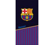 Fotbalová osuška FC Barcelona Black Half and Stripes