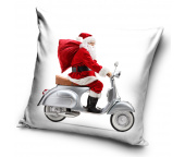 Vánoční polštářek Santa na Vespě