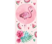 Dětská osuška Růžový Plameňák