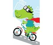 Dětský ručníček Krokodýl na kole