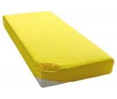 Jersey prostěradlo středně žluté