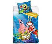 Dětské povlečení Sponge Bob, Patrick a pan Krabs