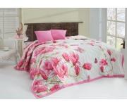 Přehoz Alize Pink 220x240 + 2x 40x40 cm