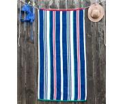 Plážová osuška Jet Set Stripes Modrá