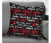Dekorační polštářek I Love You