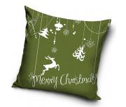 Dekorační polštářek Vánoční Sob Zelený