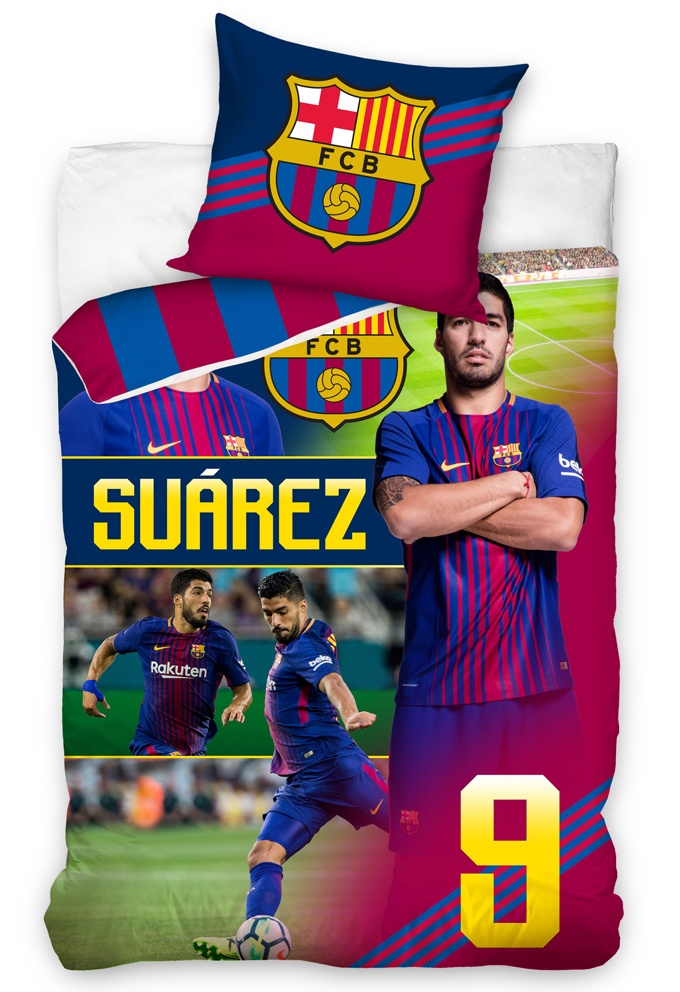 Fotbalové povlečení FC Barcelona Suárez 2018
