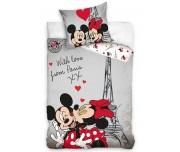 Dětské povlečení Minnie a Mickey v Paříži