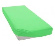 Jersey prostěradlo ostře zelené