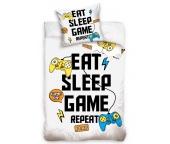 Dětské povlečení Eat Sleep Game Repeat