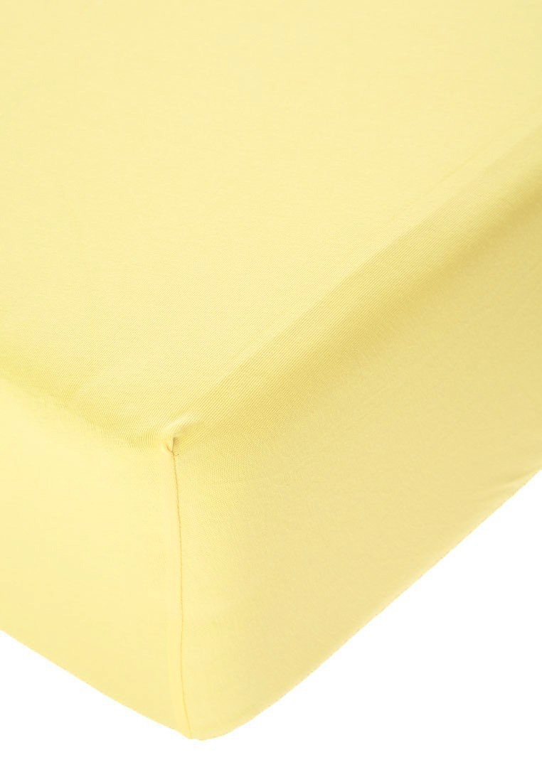 Jersey prostěradlo s elastanem vanilkové