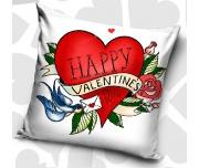 Dekorační polštářek Šťastný Valentýn