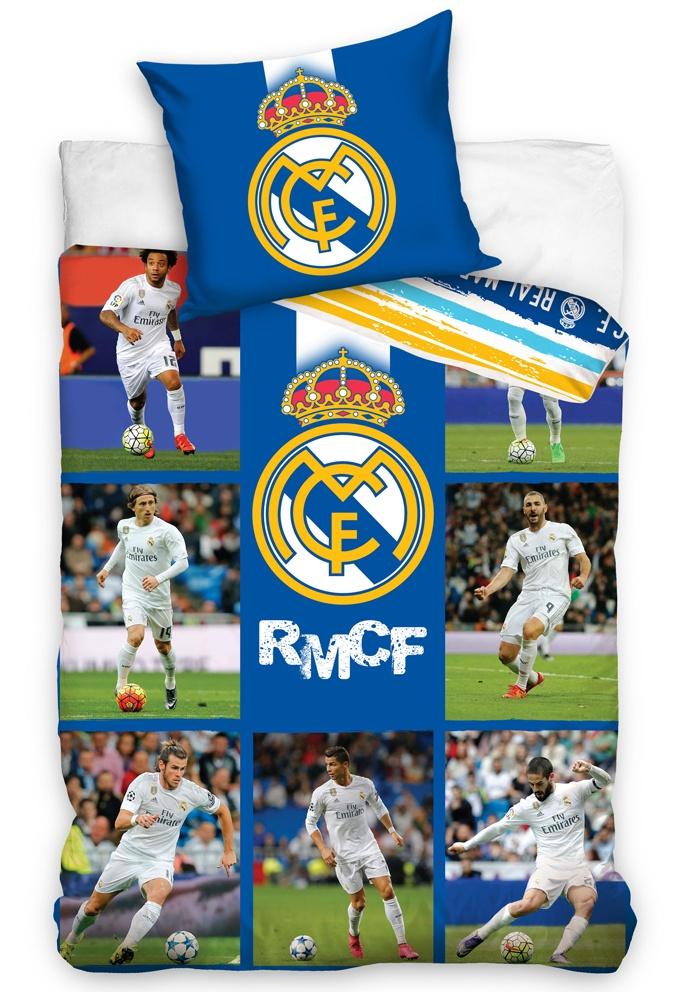 Fotbalové povlečení Real Madrid Mozaika