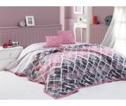 Přehoz na postel Riviéra Růžový 220x240 + 2x 40x40 cm