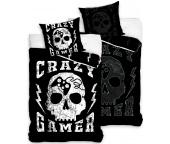 Svítící povlečení Lebka Crazy Gamer