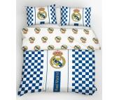 Fotbalové povlečení Real Madrid Check 220x200 cm