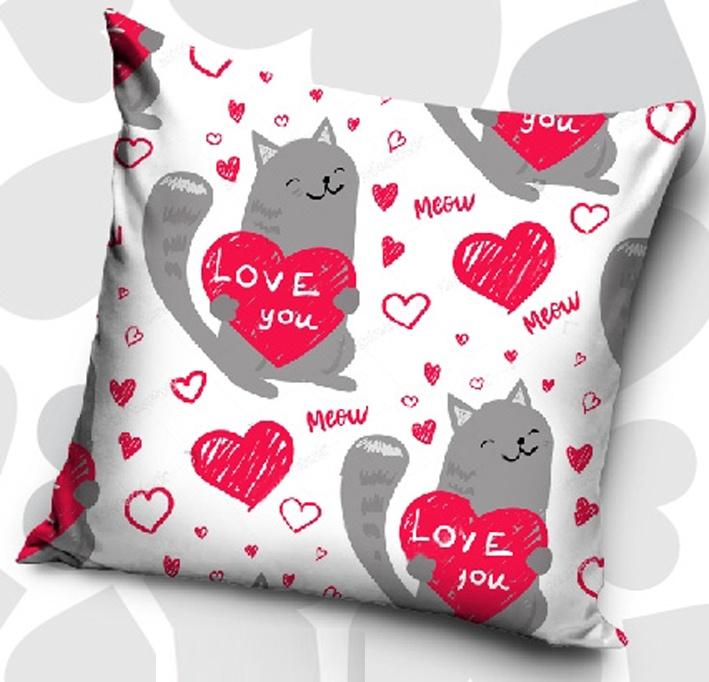 Dekorační polštářek Kočičí Láska