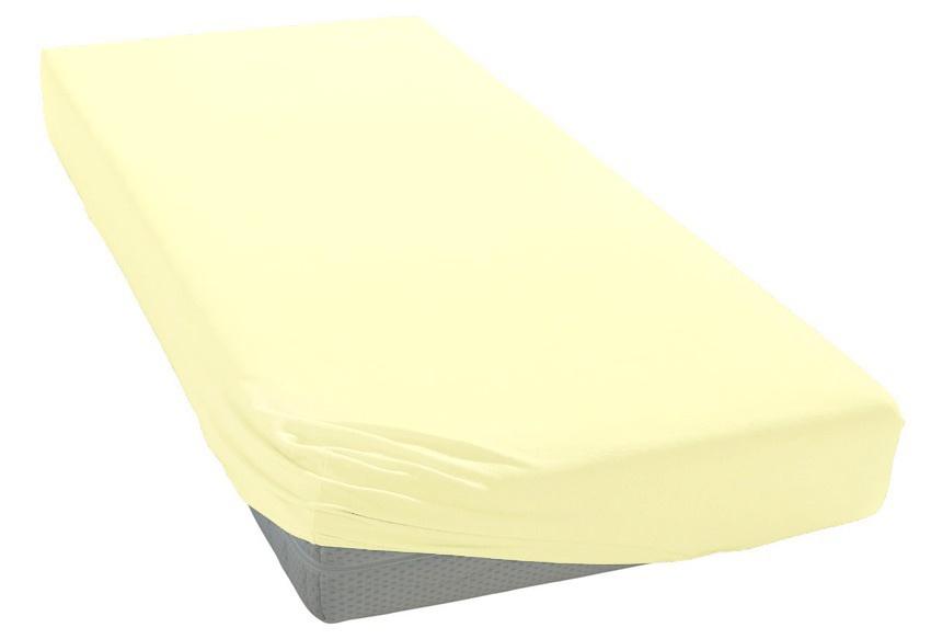 Jersey prostěradlo vanilkové