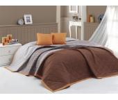 Přehoz na postel Spencer Hnědý 220x240 + 2x 40x40 cm