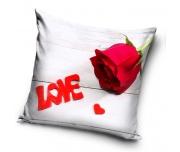 Dekorační polštářek Růže z lásky