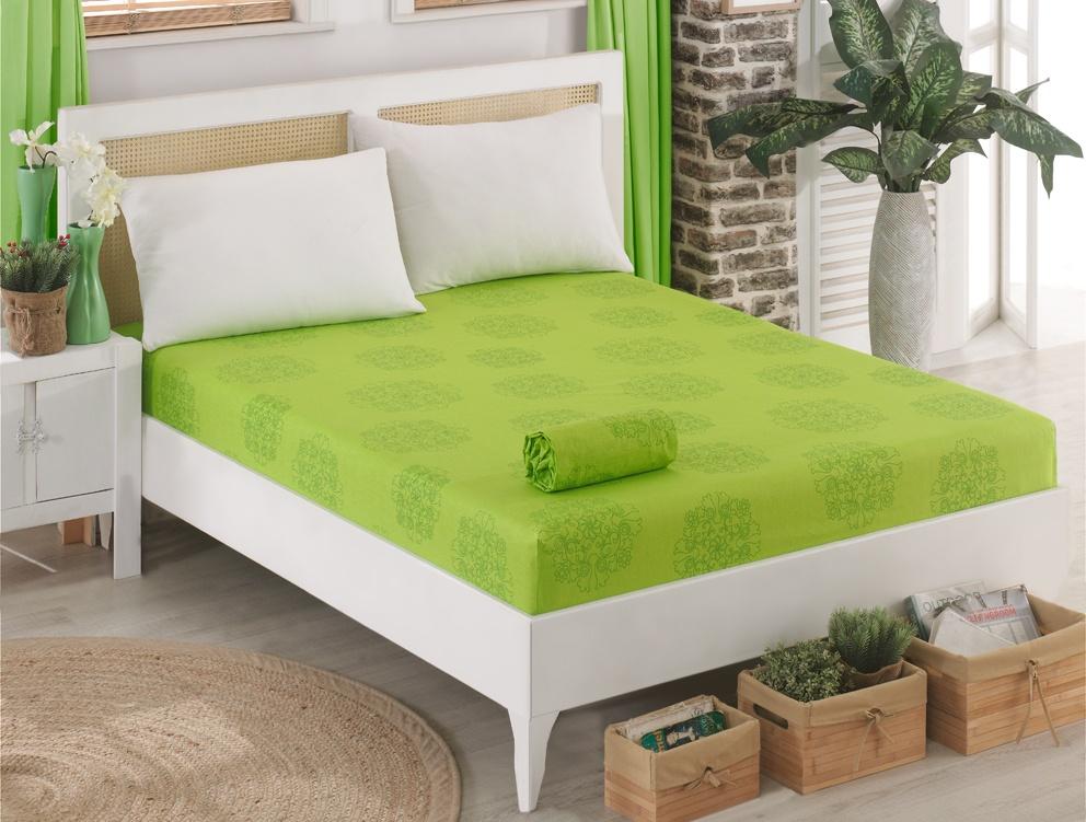 Bavlněné prostěradlo Sedef Zelené