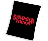 Dětská deka Stranger Things Black 150x200 cm