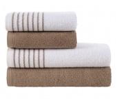 Sada ručníků a osušek Davos Hnědá Oříšková