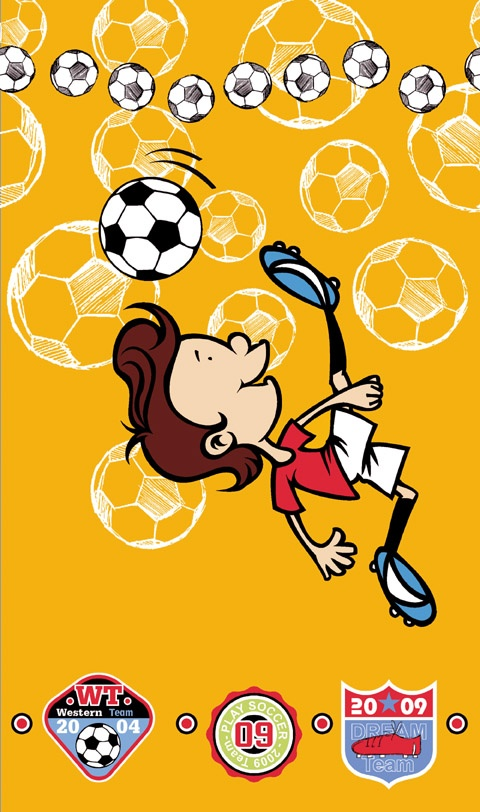 Dětská osuška Fotbal - žlutá