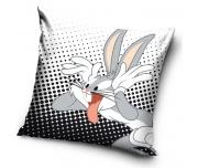 Dětský polštářek Králík Bugs Bunny Černo Bílý