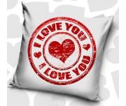 Dekorační polštářek Pečeť Lásky
